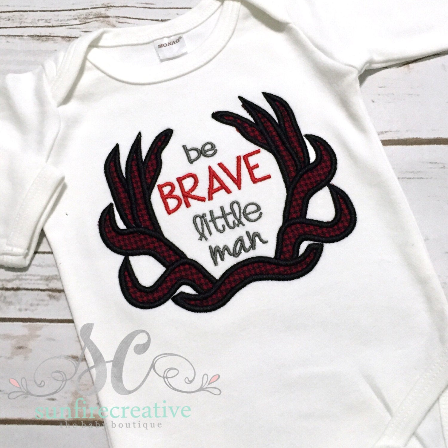 2bac91e83 Baby Boy Coming Home Outfit - Little Man with Antlers Shirt ...