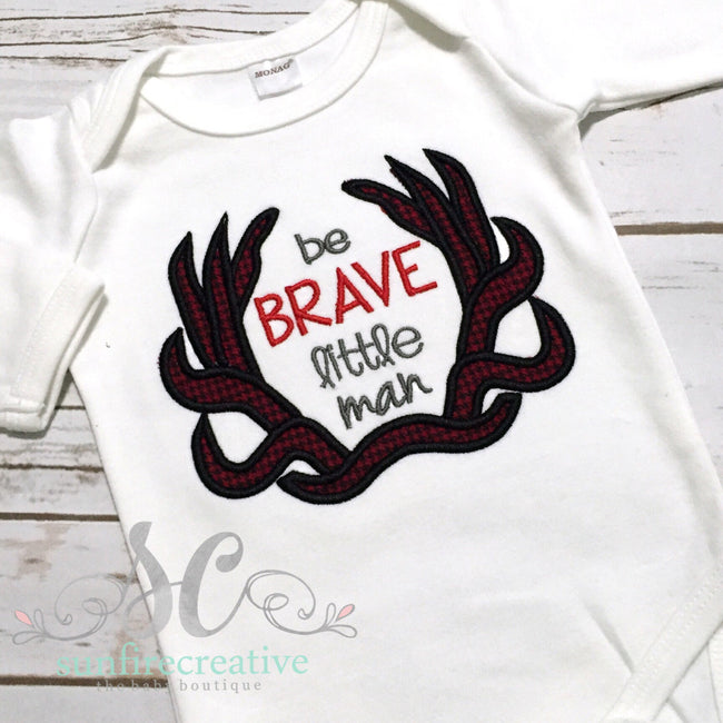 Baby Boy Coming Home Outfit - Little Man with Antlers Shirt