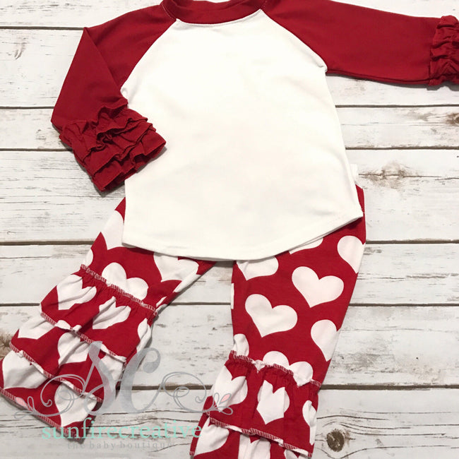 Girls Valentine Outfit - Cute Valentine Shirt
