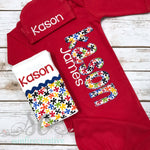 Baby Boy Coming Home Outfit - Red Baby Gown - Sunfire Creative Baby Boutique
