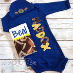 Baby Boy Coming Home Outfit - Football Baby - Sunfire Creative Baby Boutique