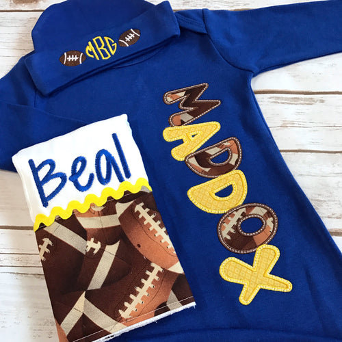 Baby Boy Coming Home Outfit - Football Baby