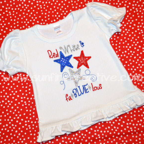 Red White and Fa-BLUE Shirt - Sunfire Creative Baby Boutique