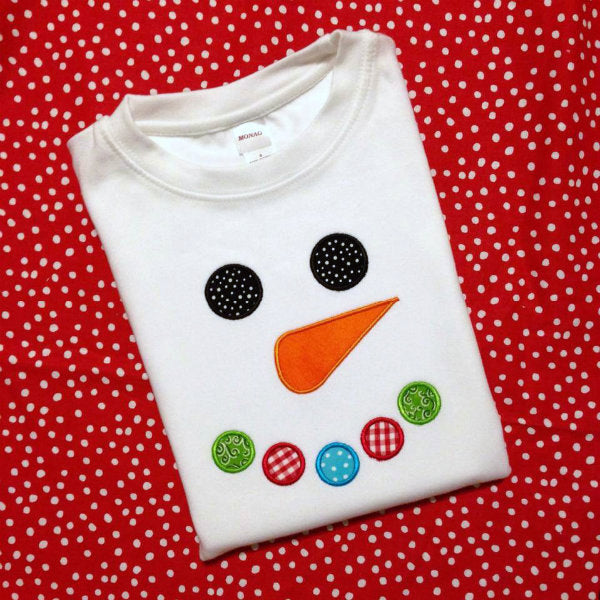 Boys Christmas Snowman Shirt - Sunfire Creative Baby Boutique