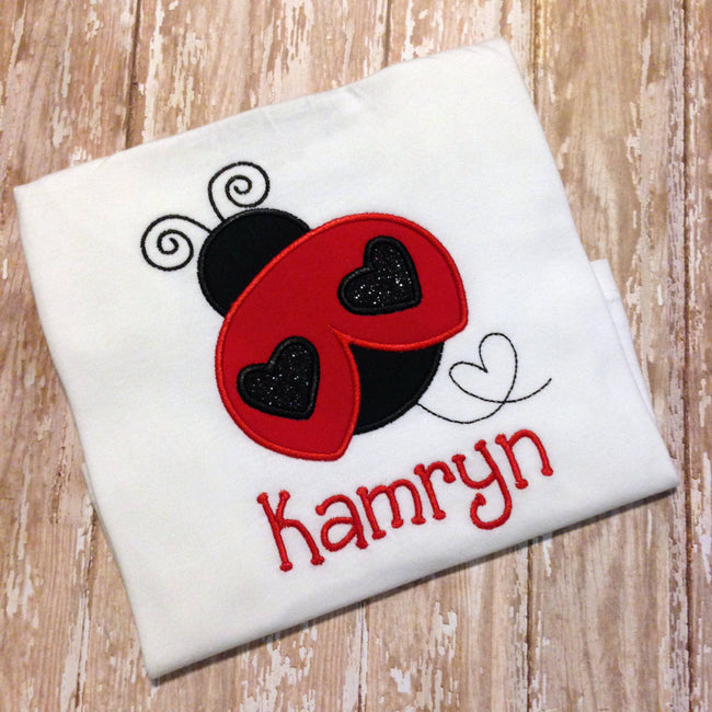 Girls Ladybug Shirt - Personalized Ladybug Shirt - Sunfire Creative Baby Boutique