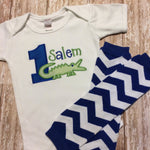Alligator First Birthday Shirt and Leg Warmers - Sunfire Creative Baby Boutique