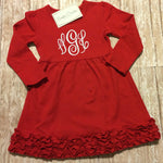 Red Monogrammed Dress