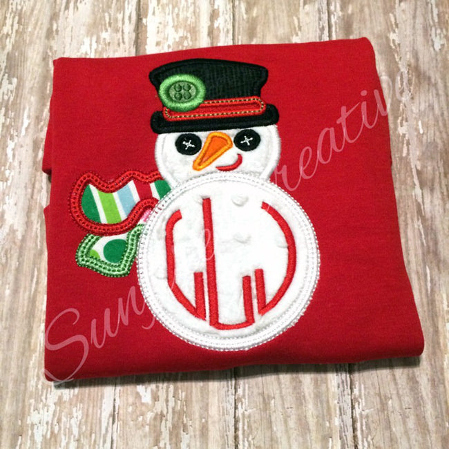 Boys Snowman Shirt - Personalized Snowman Shirt - Boys Christmas Shirt - Sunfire Creative Baby Boutique