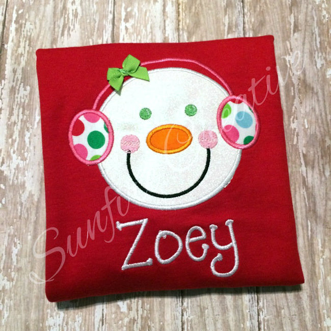Girls Snowman Shirt - Snowman Shirt