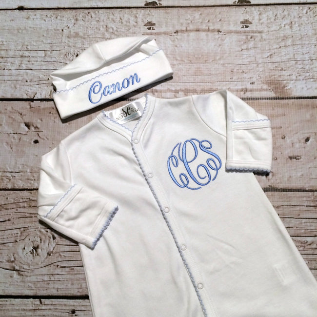 Baby Boy Coming Home Outfit - Footed Pajamas for Baby