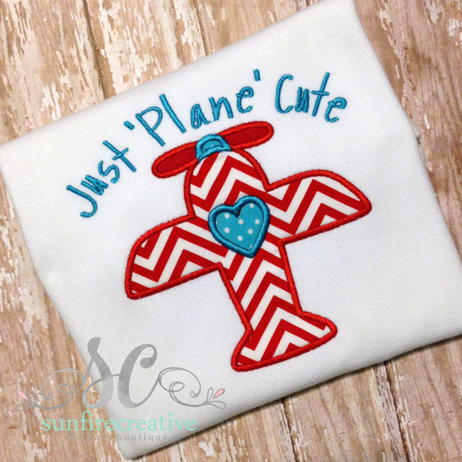 Boy Valentines Airplane Shirt - Sunfire Creative Baby Boutique