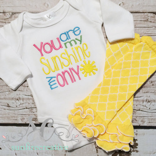 Baby Girl Outfit - Sunshine Shirt