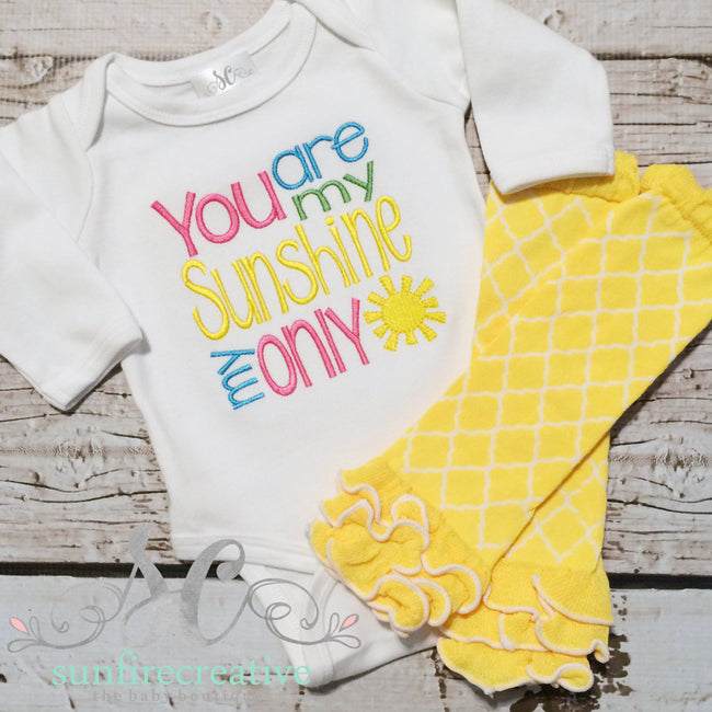 Baby Girl Outfit - Sunshine Shirt - Sunfire Creative Baby Boutique