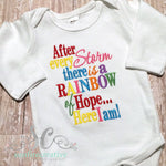 After Every Storm Rainbow Baby Bodysuit - Rainbow Baby Shirt - Sunfire Creative Baby Boutique