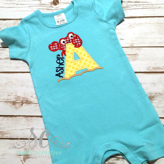 Boy Beach Outfit - Baby Boy Summer Bubble - Sunfire Creative Baby Boutique