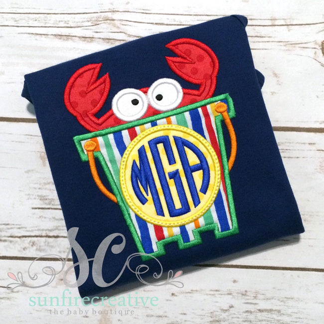 Crab Boy Romper - Navy Blue Romper - Boy Romper