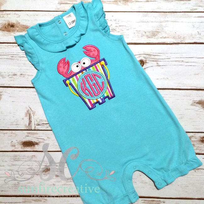 Girl Beach Clothes - Crab Romper