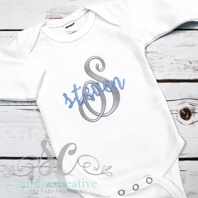 Baby Boy Coming Home Outfit Bodysuit Beanie - Newborn Baby Boy - Sunfire Creative Baby Boutique