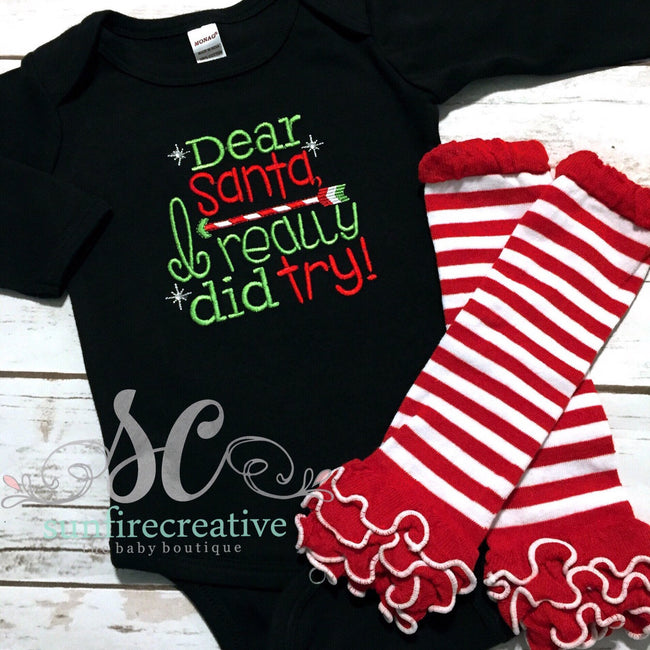 Christmas Outfit - Embroidered Outfit - Sunfire Creative Baby Boutique