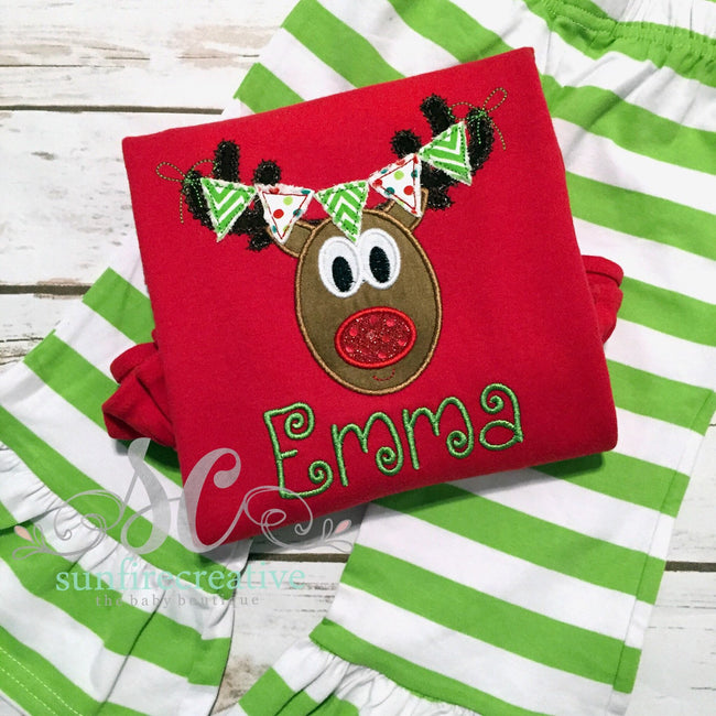 Girls Christmas Outfit - Girls Christmas Shirt