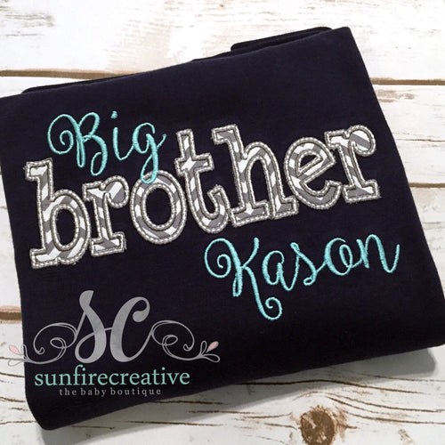 Big Brother Shirt - Personalized Sibling Shirts