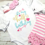 Half Birthday Outfit - Baby Girl Half Birthday Bodysuit - Sunfire Creative Baby Boutique