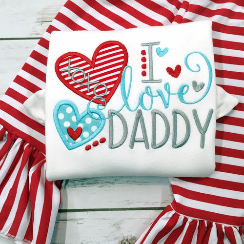 Valentine Outfit - I Love Daddy Shirt