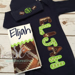 Baby Boy Coming Home Outfit - Name Gown - Football Name Gown - Sunfire Creative Baby Boutique