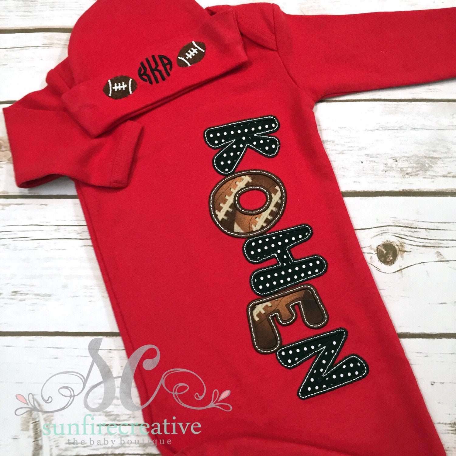 7c4bb0bf5 Baby Boy Sleeper - Baby Boy Coming Home Outfit - Sunfire Creative Baby  Boutique