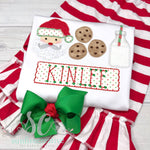 Christmas Shirt - Milk and Cookies Santa Shirt