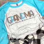Black Turquoise and Leopard Shirt - Customize Your Shirt - DTG - Sunfire Creative Baby Boutique