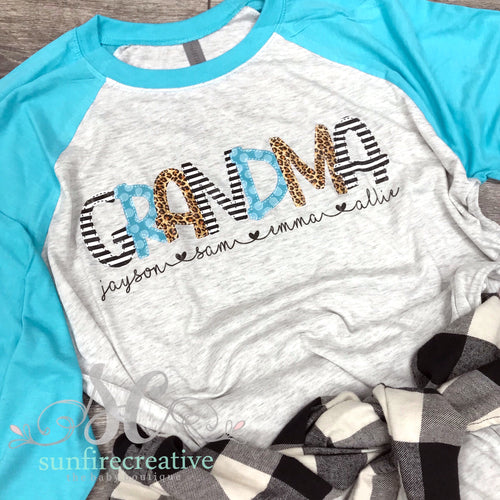 Black Turquoise and Leopard Shirt - Customize Your Shirt - DTG