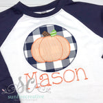 Navy Pumpkin Shirt