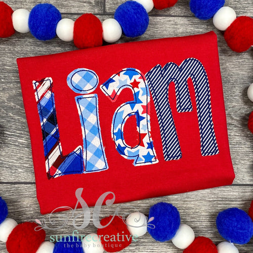 Red, White & Blue Name Shirt