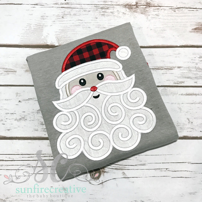 Red and Gray Santa Raglan - Sunfire Creative Baby Boutique