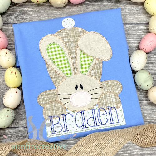 Boy Easter Bunny Shirt - Blue