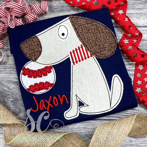 Baseball Dog Shirt - Navy