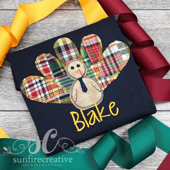 Navy Turkey Shirt - Thanksgiving Shirt - Sunfire Creative Baby Boutique