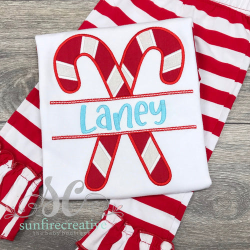 Candy Cane Outfit - Christmas Shirt