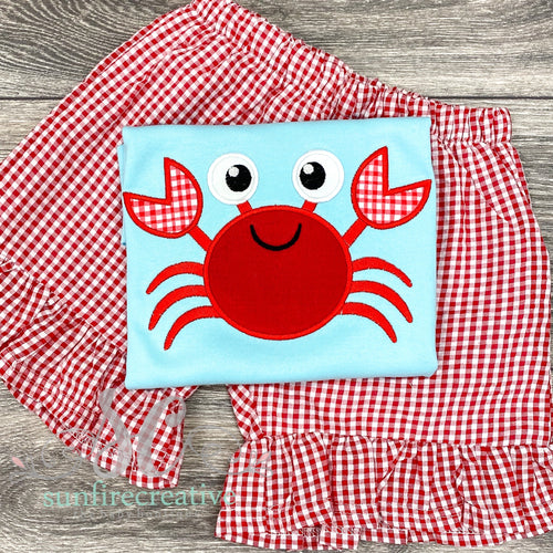 Aqua Crab Shirt with Optional Shorts