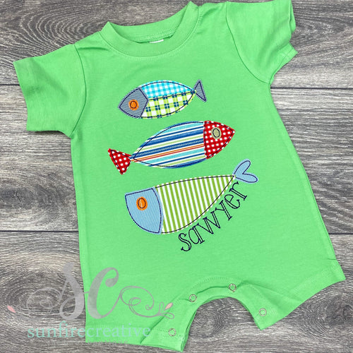 Fish Trio Romper