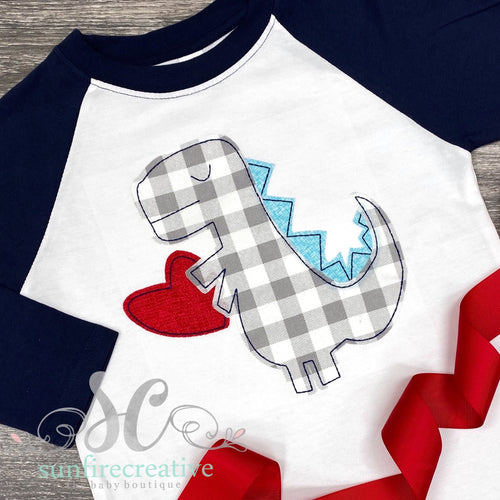 Dinosaur with Heart - Valentine Shirt