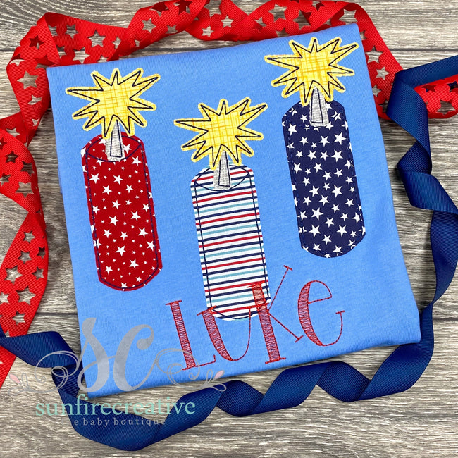 Fireworks Shirt - 4th of July Shirt - Sunfire Creative Baby Boutique