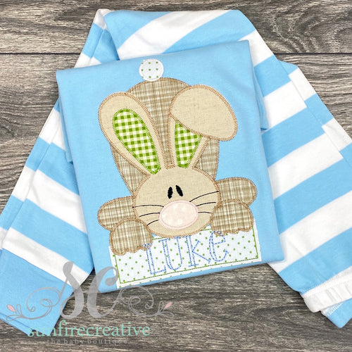 Blue Easter Bunny Pajamas