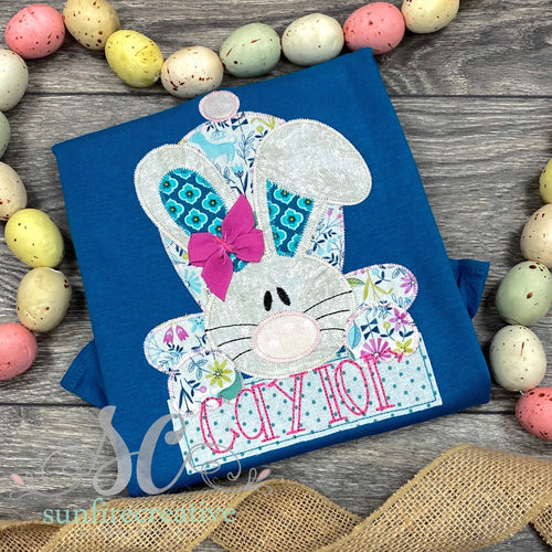 Peacock Easter Bunny Shirt for Girl