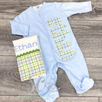 Baby Blue Footed Sleeper - Newborn Outfit