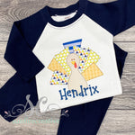 Turkey Boy Outfit - Printed Turkey Shirt - DTG