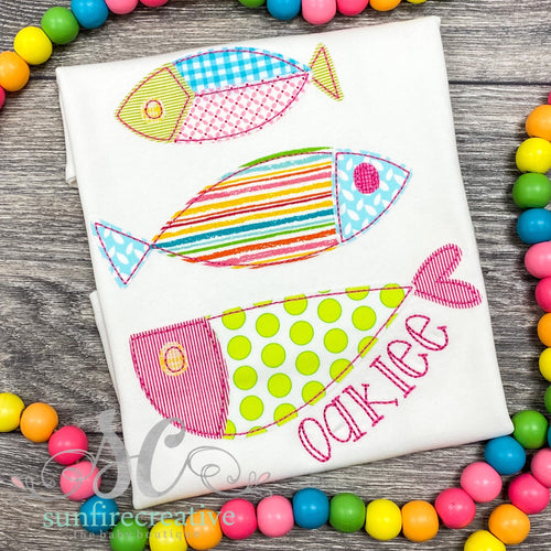 Pink & Green Fish Trio Shirt