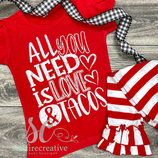 All You Need is LOVE & Tacos - Child DTG - Sunfire Creative Baby Boutique