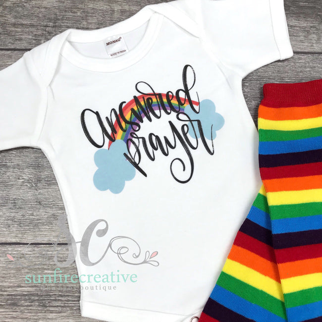 Answered Prayer Onesie - DTG - Sunfire Creative Baby Boutique